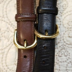 💥Lands End Belts, One Black & One Brown